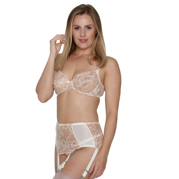 Stella deep suspender belt with wide clips