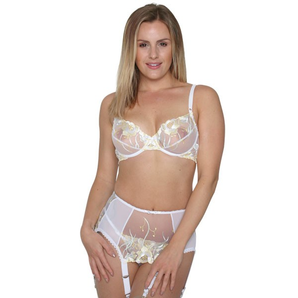Summer deep suspender belt with wide clips