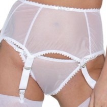 Krystel deep suspender belt with wide clips