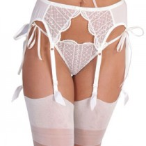 Vanilla slim suspender belt with slim clips