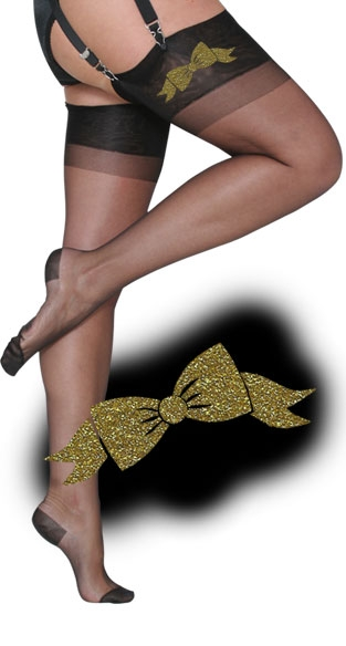 >Glitter Ribbon RHT Stockings