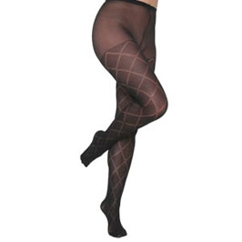 diamond opaque tights